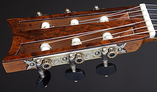 Panormo headstock with Fustero tuning machine