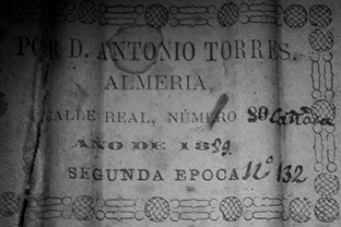 Antonio de Torres guitar label 1889