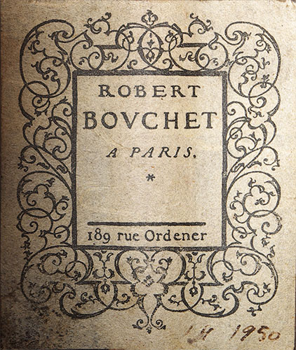 Robert Bouchet 1950 Label